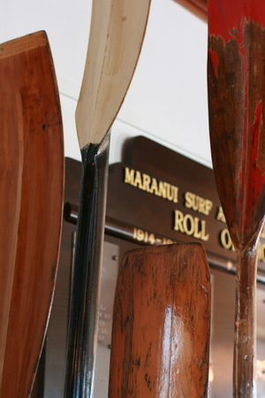 Oars_and_honour_board_at_maranui